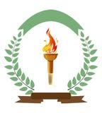 Torche olympique Images libres de droits