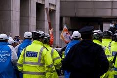 Torche olympique Photo libre de droits