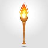 Torche olympique de vintage Photos libres de droits