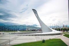 Torche olympique en Adler, Sotchi - 22 mai 2017 Russie Images libres de droits