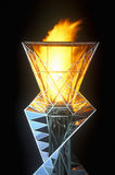 Torche olympique la nuit pendant les 2002 Jeux Olympiques d'hiver, Salt Lake City, UT Photographie stock