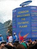Torche olympique à Londres. Photographie stock
