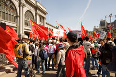 Torche olympique Protests_SF Photo stock