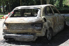 Torched Car Stock Photography