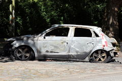 Torched Car Stock Image