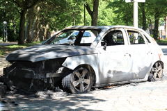 Torched Car Royalty Free Stock Image