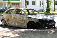 Torched Car Stock Images