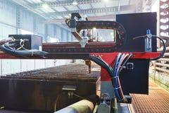 Torches de plasma de fin de découpeuse  Photo stock
