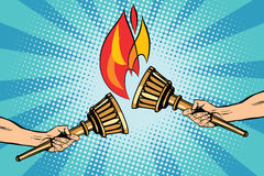 Torches o relé de tocha ilustração do vetor
