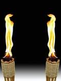 Torches opposées de Tiki Image libre de droits