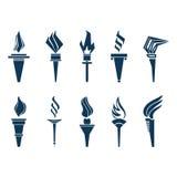 Torches set icon Royalty Free Stock Photo