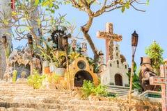 Torches sur le cimetière mexicain Image stock