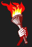 Torchlight in der Hand Lizenzfreie Abbildung