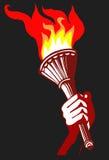 Torchlight in der Hand Lizenzfreies Stockbild