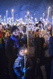 Torchlight procession Stock Photography