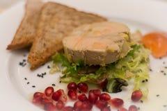 Torchon dos gras de Foie Foto de Stock