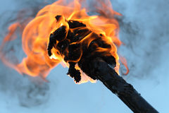 Torcia ardente Immagini Stock