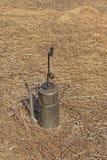Torcia del gocciolamento utilizzata in un'ustione controllata immagine stock libera da diritti