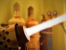 Torcia del soffiatore di vetro (bruciatore) Fotografia Stock