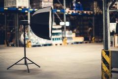 Torcia elettrica dello studio di fotografia Fotografia Stock Libera da Diritti