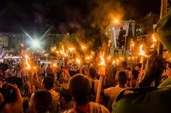 Torcia marzo Avana, Cuba I Fotografia Stock Libera da Diritti