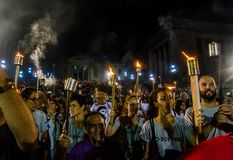Torcia marzo Avana, Cuba IV Fotografie Stock