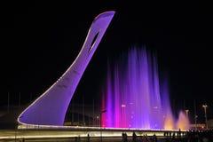 Torcia olimpica di Soci Fotografie Stock Libere da Diritti