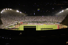 Torcida football fans on stadium Royalty Free Stock Photography