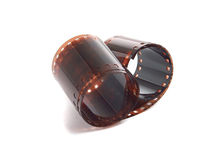 Torcido 35 milímetros de filmstrip imagem de stock royalty free