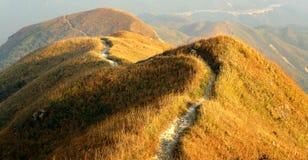 Torcimento del percorso della montagna Immagini Stock Libere da Diritti