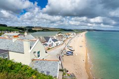 Torcross Devon England UK. Overlooking the seaside village of Torcross in the South Hams region of Devon England UK Europe stock image