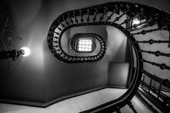 Tordant l'escalier Galica - en Espagne Photographie stock libre de droits