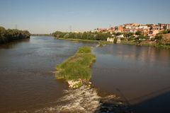 Tordesillas and Duero River Royalty Free Stock Photo