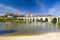 Tordesillas with medieval bridge Royalty Free Stock Photos