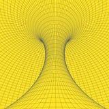 Tore de Wireframe avec les lignes et les points reliés Élément polygonal de maille illustration de vecteur