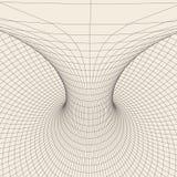 Tore de Wireframe avec les lignes et les points reliés Élément polygonal de maille Illustration EPS10 de vecteur Photo libre de droits