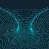 Tore de Wireframe avec les lignes et les points reliés Élément polygonal de maille Illustration EPS10 de vecteur Image stock