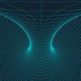 Tore de Wireframe avec les lignes et les points reliés Élément polygonal de maille Illustration EPS10 de vecteur illustration stock
