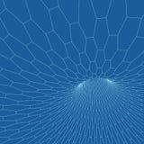Tore de Wireframe avec les lignes et les points reliés Élément polygonal de maille Illustration EPS10 de vecteur illustration de vecteur