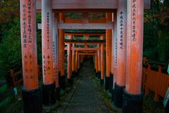 Tore Fushimi Inari Taisha Torii Stockfotos