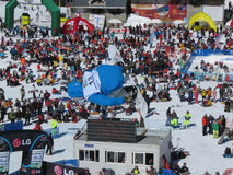 Tore Holvik NOR Race World Cup Half Pipe. Race World Cup snowboard Half Pipe in Valmalenco Italy Royalty Free Stock Photography