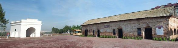 Tore von Omsk-Festung und -Altbauten Lizenzfreie Stockfotos