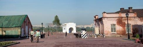 Tore von Omsk-Festung und -Altbauten Lizenzfreies Stockbild