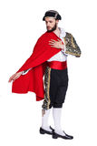 Toreador with a red cape Stock Image