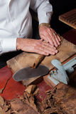 Toreador rolling hand made cigars Stock Photo