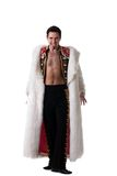 Toreador in white fur coat Royalty Free Stock Images