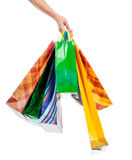toreb żeński ręki mienia zakupy Obraz Stock