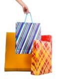 toreb żeński ręki mienia zakupy Obrazy Stock