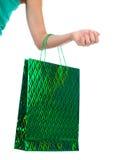 toreb żeński ręki mienia zakupy Zdjęcia Stock