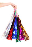 toreb żeński ręki mienia zakupy Zdjęcia Royalty Free